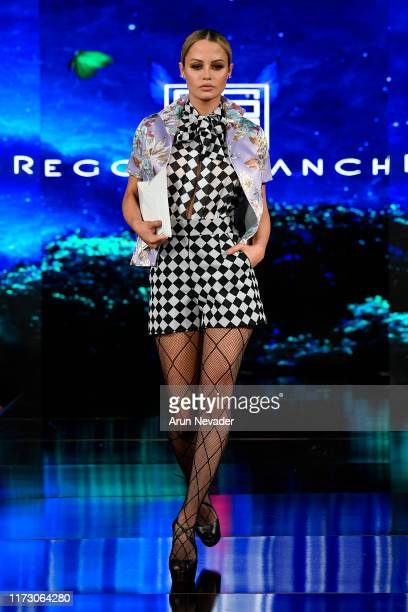 Yilena Hernandez walks the runway during GREGORIO SANCHEZ At New York Fashion Week Powered by Art Hearts Fashion NYFW September 2019 at The Angel...