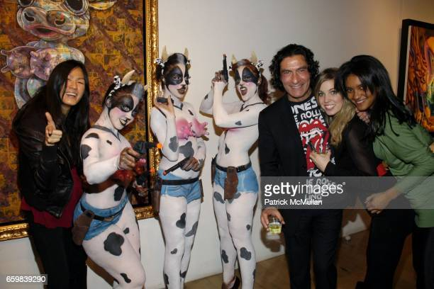 YiLin Hsu Body of Art Performers Eric Allouche Tori Thompson and Monique Rodrigues attend IMMORTAL UNDERGROUND by RON ENGLISH at Opera Gallery on...