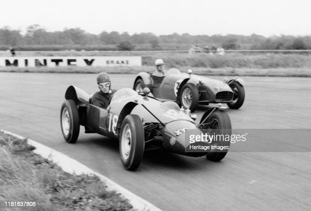 Yimkin of D Sim leads Lotus 7 of P Warr at Silverstone 1960 Creator Unknown