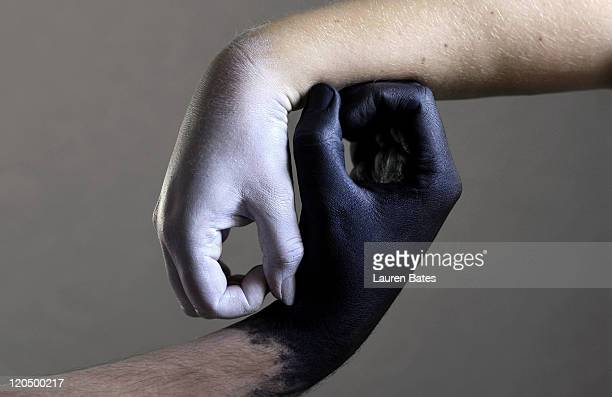 yin yang - body paint stock pictures, royalty-free photos & images