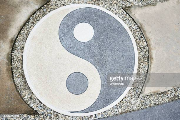 Yin Yang symbol on the floor