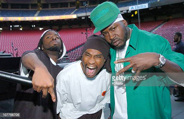 Yin Yang Twins and Trick Daddy during Hot 97 Summer Jam 2004 Show at Giants Stadium in East Rutherford New Jersey United States