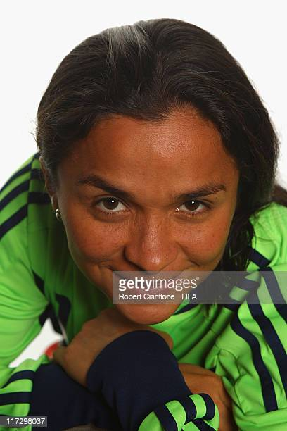 Yineth Varon Parra of Colombia during the FIFA portrait session on June 25 2011 in Cologne Germany