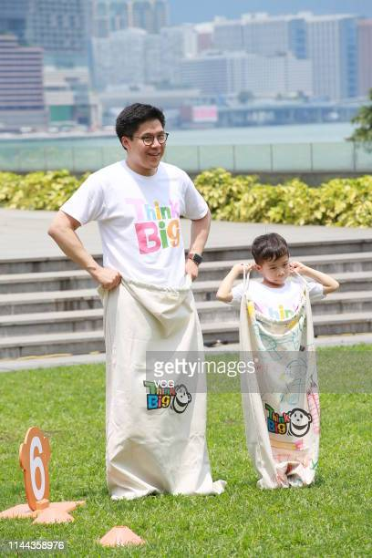 Ying Tung Group Vice-President Kenneth Fok Kai-kong attends a press conference of TVB's 'Think Big Jumping Day' activity on April 22, 2019 in Hong...