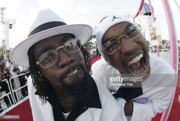 Ying Yang Twins Kaine and DRoc during 2004 MTV Video Music Awards Red Carpet at American Airlines Arena in Miami Florida United States