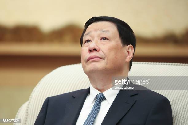 Ying Yong Mayor of Shanghai attends a meeting of the 19th Communist Party Congress at the Great Hall of the People on October 19 2017 in Beijing...