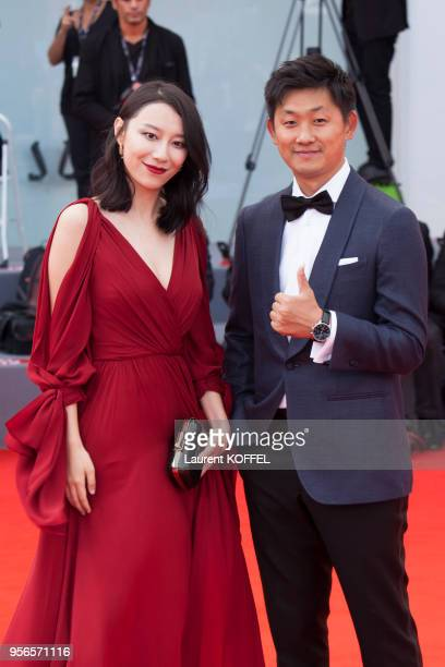Ying Zei and Pengfei walks the red carpet ahead the Award Ceremony of the 74th Venice Film Festival at Sala Grande on September 9 2017 in Venice Italy