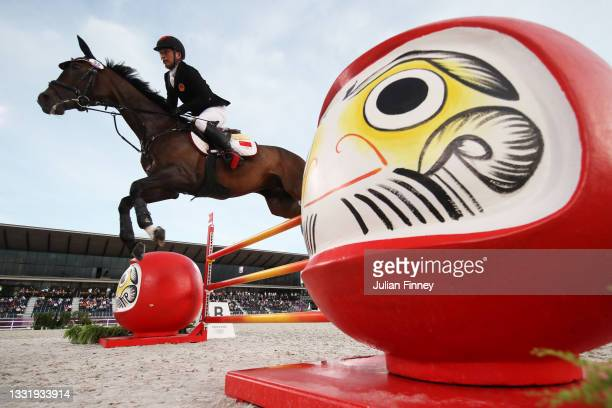 Yingfeng Bao of Team China riding Flandia 2 competes during the Eventing Jumping Team Final and Individual Qualifier on day ten of the Tokyo 2020...