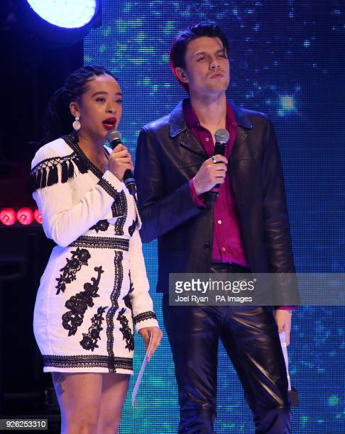 Yinka and James Bay at The Global Awards a brand new awards show hosted by Global the Media Entertainment group at London's Eventim Apollo...