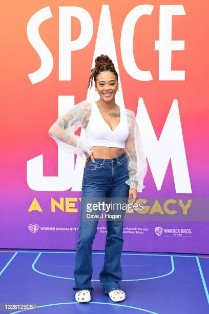 """Yinka Bokinni attends a special screening of """"SPACE JAM: A NEW LEGACY"""" in cinemas 16th July at Cineworld Leicester Square on July 11, 2021 in London,..."""