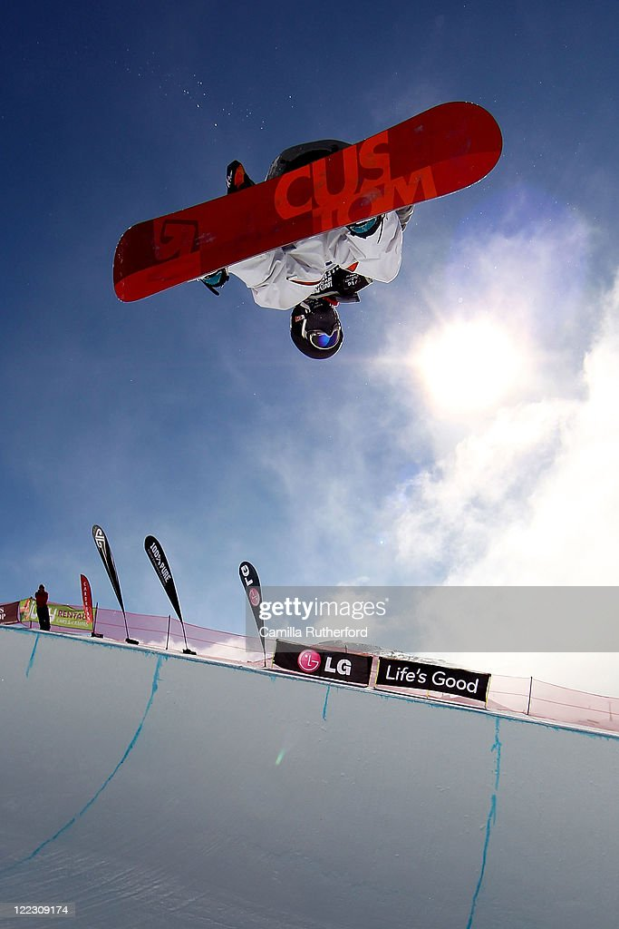 Yiwei Zhang of China competes in the Snowboard Half Pipe Semi Finals on day 16 of the Winter Games NZ at Cardrona Alpine Resort on August 28, 2011 in Wanaka, New Zealand.