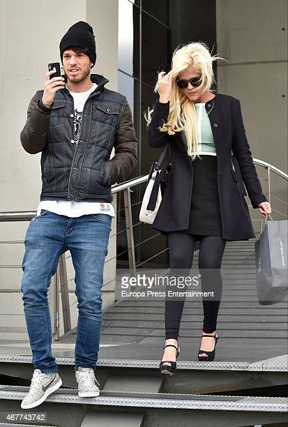Ylenia Padilla and Fede Rebecchi are seen on March 26 2015 in Madrid Spain