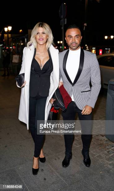 Ylenia Padilla and Luis Rollan are seen on Madrid Spain