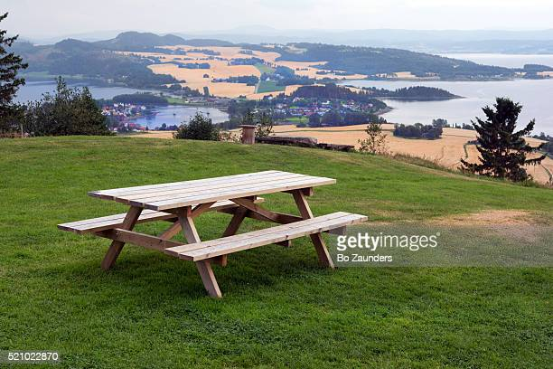 øyna, straumen - picnic table stock pictures, royalty-free photos & images
