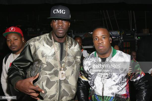 Yo Gotti and guest attends the BET Hip Hop Awards 2017 at The Fillmore Miami Beach at the Jackie Gleason Theater on October 6 2017 in Miami Beach...