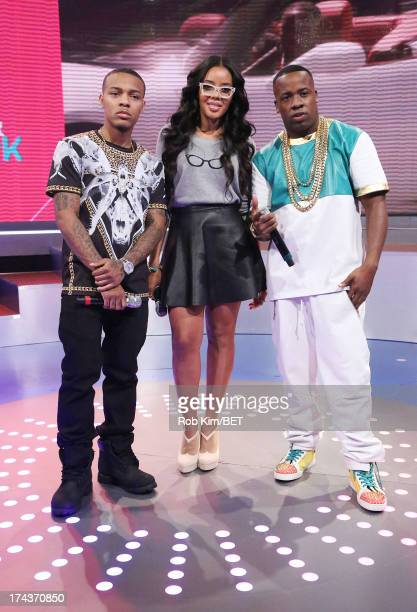 Yo Gotti and hosts Bow Wow and Angela Simmons at BET's 106 and Park at BET Studios on July 24 2013 in New York City
