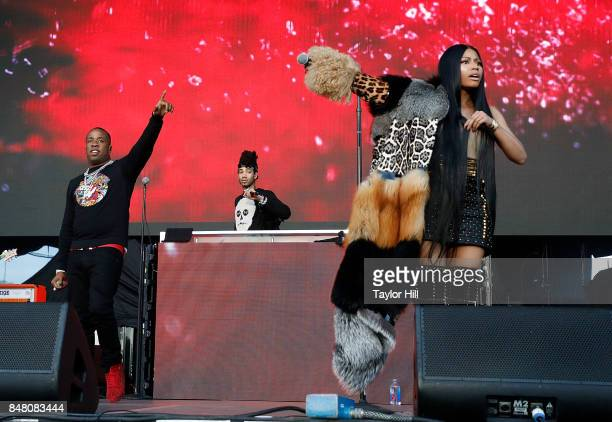 Yo Gotti and Nicki Minaj perform onstage during Day 2 at The Meadows Music & Arts Festival at Citi Field on September 16, 2017 in New York City.