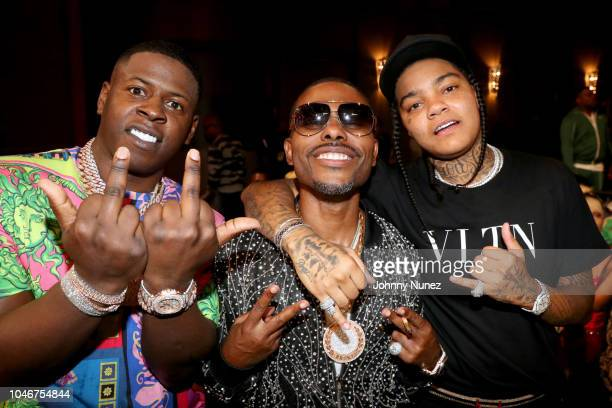 Yo Gotti Lil Duval and Young MA attend the BET Hip Hop Awards 2018 at Fillmore Miami Beach on October 6 2018 in Miami Beach Florida