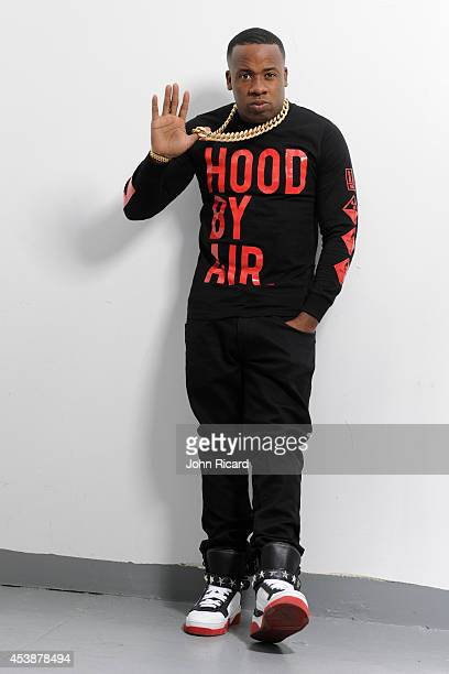 Yo Gotti poses for photos at the John Ricard Studio on August 20, 2014 in New York City.