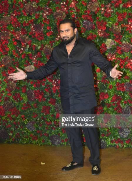Yo Yo Honey Singh at Ranveer Singh and Deepika Padukones reception in Mumbai