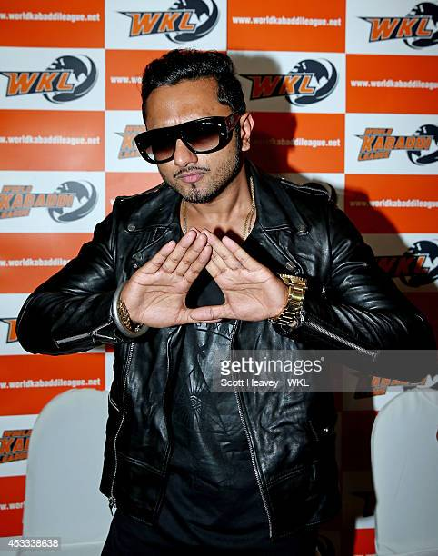 Yo Yo Tigers owner Honey Singh during the World Kabaddi League Press Conference on August 8 2014 in London England