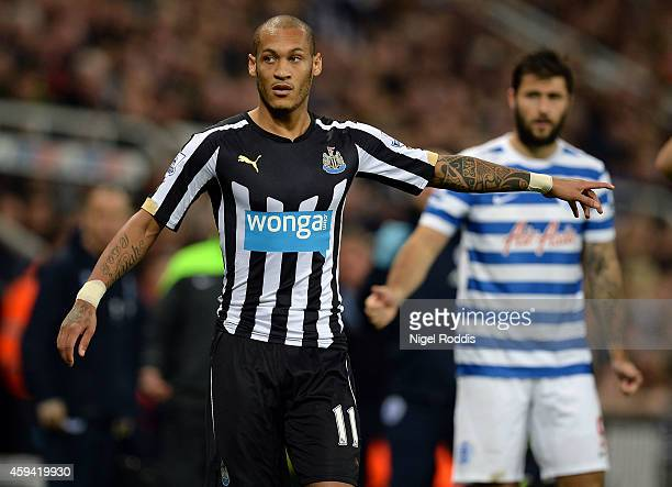Yoan Gouffran of Newcastle United during the Barclays Premier League football match between Newcastle United and Queeens Park Rangers at St James'...