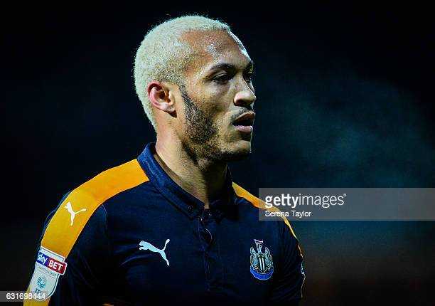 Yoan Gouffran of Newcastle United during the Championship Match between Brentford and Newcastle United at Griffin Park on January 14 2017 in...