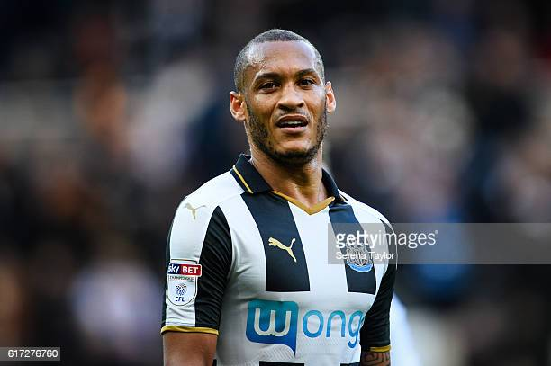Yoan Gouffran of Newcastle United during the Sky Bet Championship Match between Newcastle United and Ipswich Town at StJames' Park on October 2 2016...