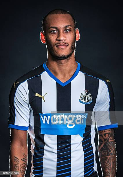 Yoan Gouffran poses for his head shot during a Newcastle United Photocall at The Newcastle United Training Centre on July 28 in Newcastle upon Tyne...