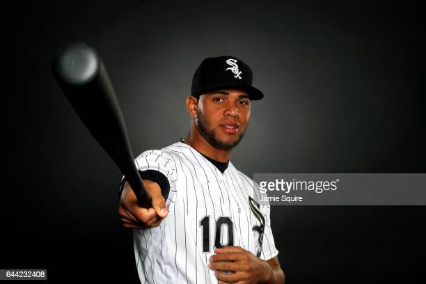 Yoan Moncada of the Chicago White Sox poses on Chicago White Sox Photo Day during Spring Taining on February 23 2017 in Glendale Arizona