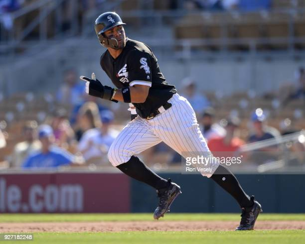 Yoan Moncada of the Chicago White Sox runs the bases against the Los Angeles Dodgers on March 2 2018 at Camelback Ranch in Glendale Arizona