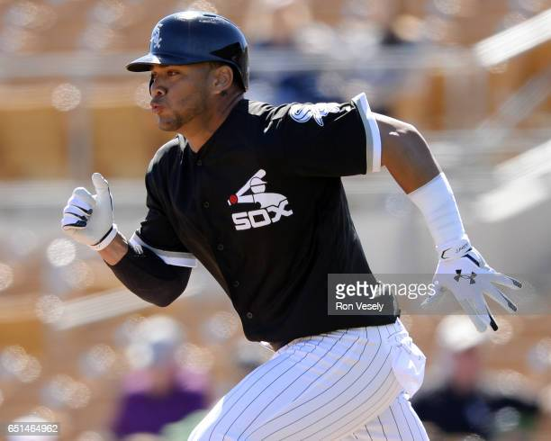Yoan Moncada of the Chicago White Sox runs the bases during a spring training game against the San Diego Padres on March 6 2017 at Camelback Ranch in...