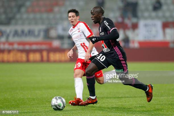 Yoane Wissa of Ajaccio during the Ligue 2 match between AS Nancy and AC Ajaccio on November 17, 2017 in Nancy, France.