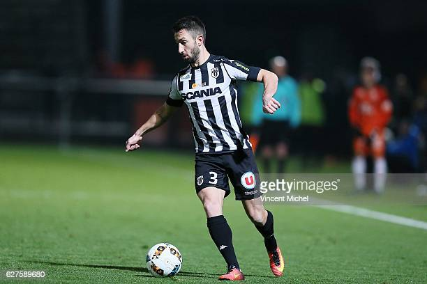 Yoann Andreu of Angers during the Ligue 1 match between Angers SCO and FC Lorient on December 3 2016 in Angers France