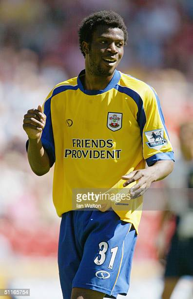Yoann Folly of Southampton in action during the preseason friendly match between Southampton and Chievo on August 7 2004 at the St Mary's Stadium in...