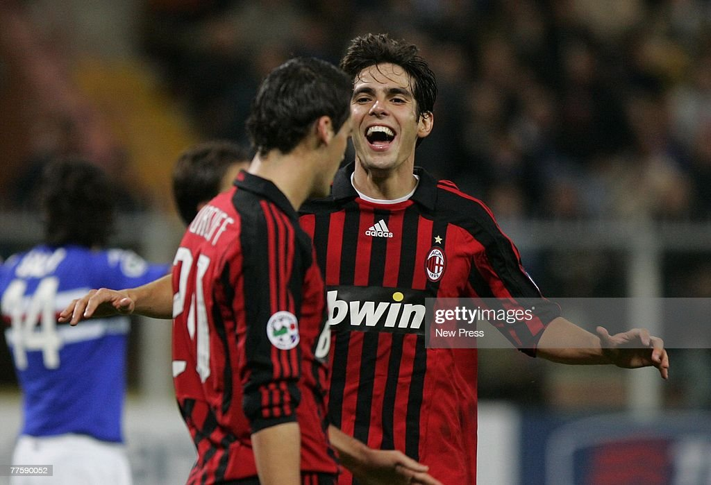Yoann Gourcuff Of Ac Milan Is Congratulated By Kaka Of Ac Milan News Photo Getty Images