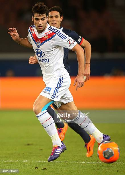 Yoann Gourcuff of Lyon in action during the french Ligue 1 match between Paris SaintGermain FC and Olympique Lyonnais at the Parc des Princes stadium...