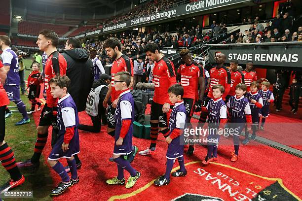 Yoann Gourcuff of Rennes during the French Ligue 1 match between Rennes and Toulouse at Roazhon Park on November 25, 2016 in Rennes, France.