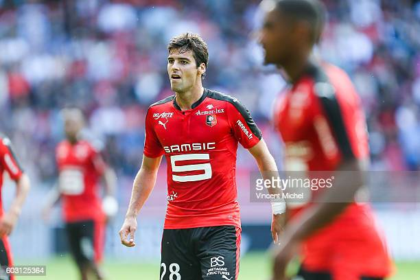 Yoann Gourcuff of Rennes during the french Ligue 1 match between Stade Rennais and SM Caen at Stade de la Route de Lorient on September 11 2016 in...