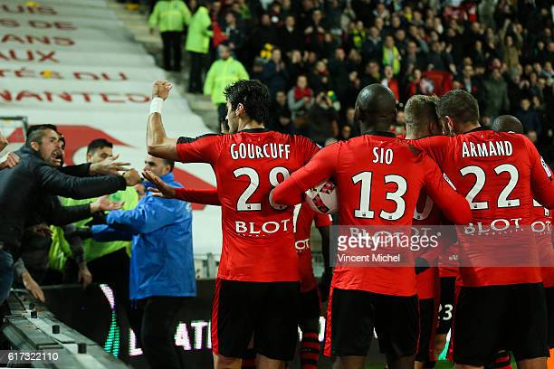 Yoann Gourcuff of Rennes during the Ligue 1 match between FC Nantes and Stade Rennais at Stade de la Beaujoire on October 22 2016 in Nantes France