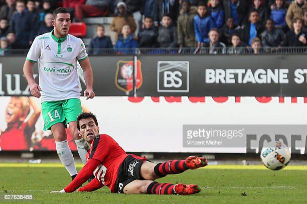 Yoann Gourcuff of Rennes during the Ligue 1 match between Stade Rennais and AS Saint-Etienne at Roazhon Park on December 4, 2016 in Rennes, France.