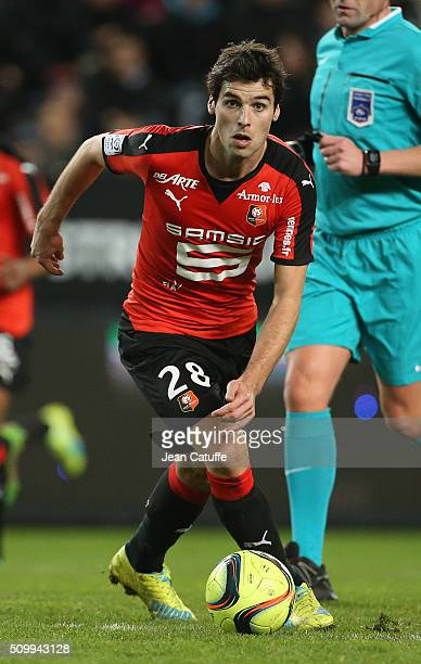Yoann Gourcuff of Rennes in action during the French Ligue 1 match between Stade Rennais FC and SCO Angers at Roazhon Park stadium on February 12...