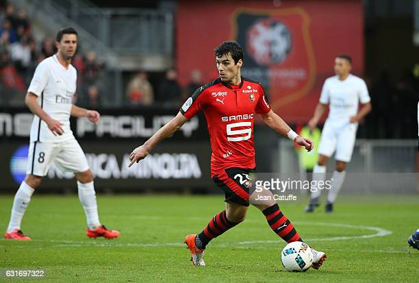 Yoann Gourcuff of Rennes in action during the French Ligue 1 match between Stade Rennais FC and Paris SaintGermain at Roazhon Park stadium on January...