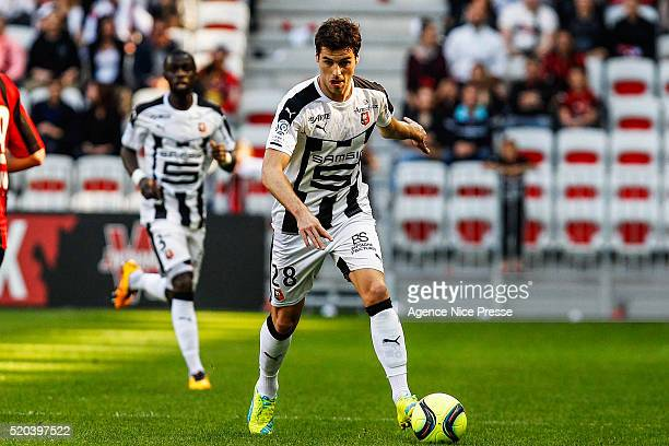 Yoann Gourcuff of Stade Rennais FC during the French League 1 match between OGC Nice and Stade Rennes at Allianz Riviera on April 10 2016 in Nice...