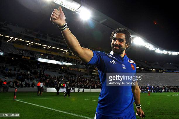 Yoann Huget of France after the first test match between the New Zealand All Blacks and France at Eden Park on June 8 2013 in Auckland New Zealand