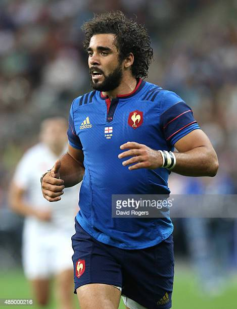 Yoann Huget of France looks on during the International match between France and England at Stade de France on August 22 2015 in Paris France
