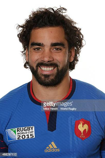 Yoann Huget of France poses during the France Rugby World Cup 2015 squad photo call at the Selsdon Park Hotel on September 15 2015 in Croydon England