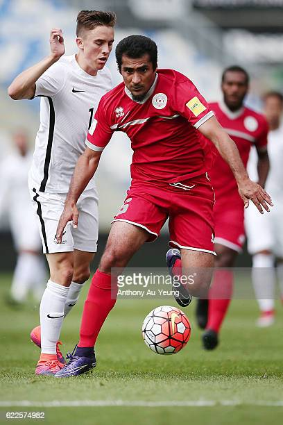 Yoann Mercier of New Caledonia in action during the 2018 FIFA World Cup Qualifier match between the New Zealand All Whites and New Caledonia at QBE...