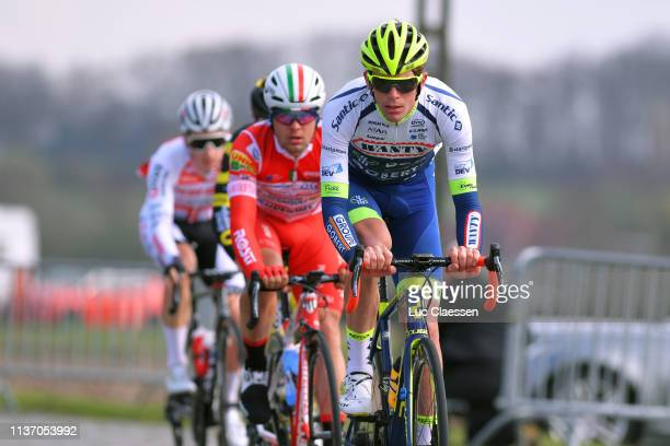 Yoann Offredo of France and Team Wanty – Groupe Gobert / Mattia Viel of Italy and Team Androni Giocattoli Sidermec / during the 74th Nokere Koerse...