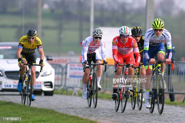 Yoann Offredo of France and Team Wanty – Groupe Gobert / Otto Vergaerde of Belgium and Team Corendon Circus / Mattia Viel of Italy and Team Androni...